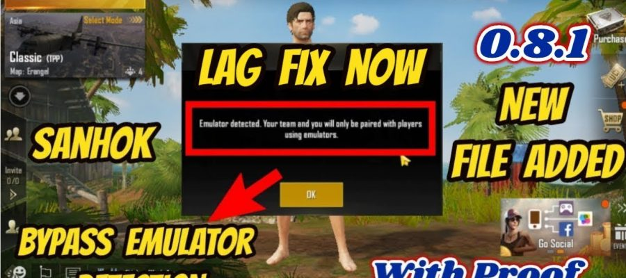 PubG Lag Fix | Bypass Emulator Detected In PubG Mobile For New